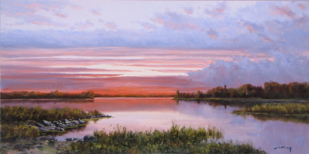 Joan Colomer Sunset Over the River