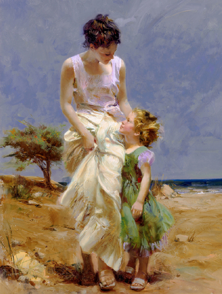 Joyful Memories by Artist Pino Daeni Artwork