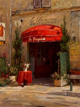 LEONARD WREN ARTIST -La Bergerie by Leonard Wren Artist