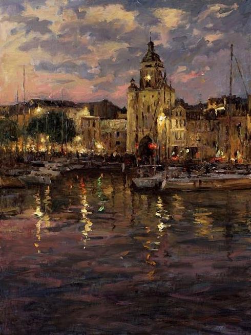 LEONARD WREN ARTIST - La Rochelle by Artist Leonard Wren