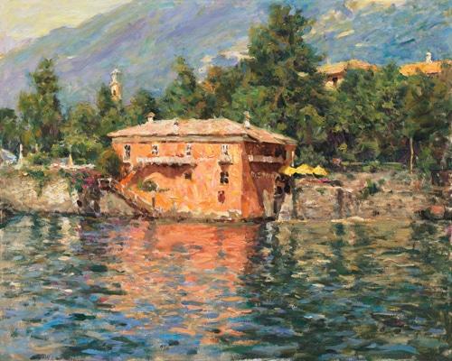 LEONARD WREN ARTIST - Lake Como