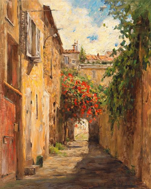 LEONARD WREN ARTIST - Passage du Provence by Leonard Wren