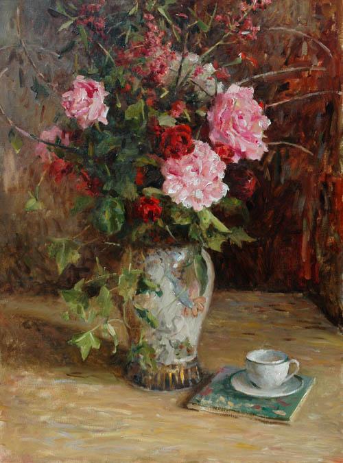 LEONARD WREN ARTIST -Summer Still Life Leonard Wren