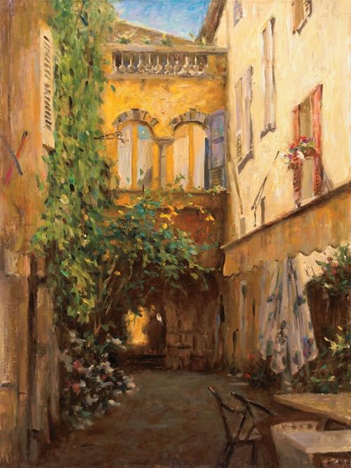 LEONARD WREN ARTIST - Valbonne Hotel