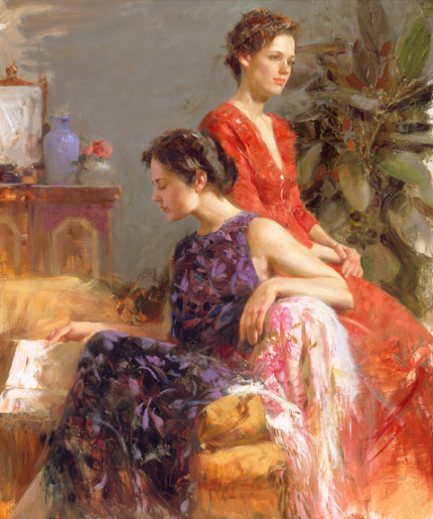 Lazy Afternoon by Artist Pino Daeni Artwork