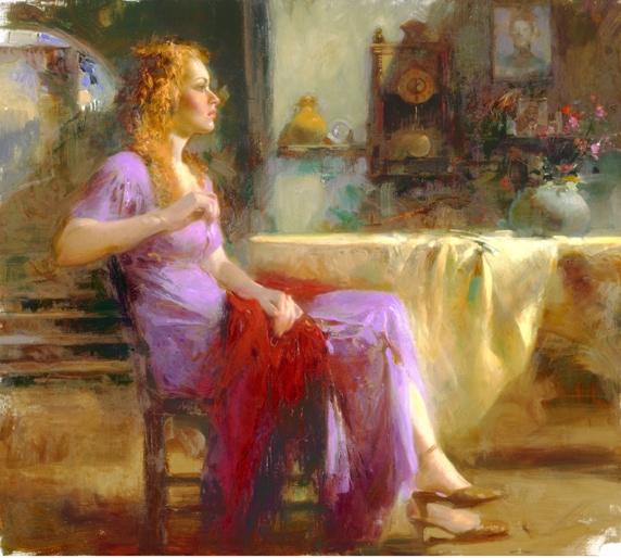Longing For by Artist Pino Daeni Artwork