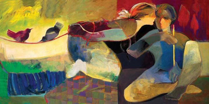 Love Birds by Hessam Abrishami 24 x 48