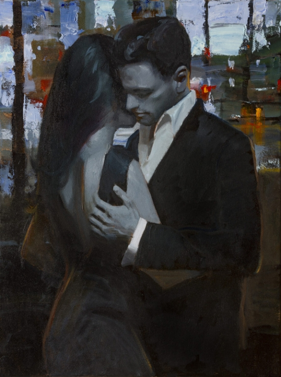 MATTEO PIZZUTO - Original Oils - Artwork by Matteo Pizzuto - Evening Encounter 24 x 18