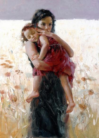 Maternal Instincts by Artist Pino Daeni Artwork