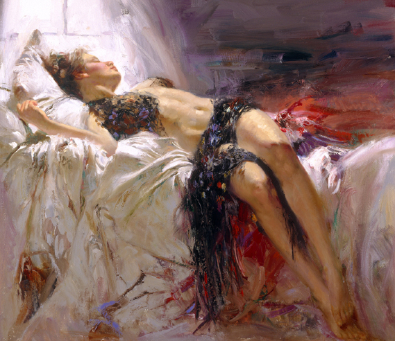 Morning Dreams by Artist Pino Daeni Artwork