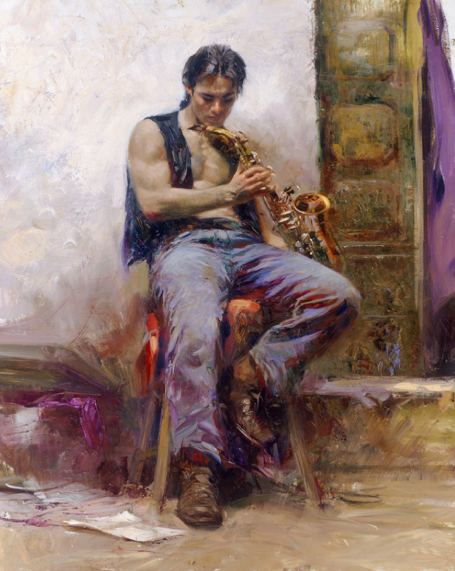 Music Lover by Artist Pino Daeni Artwork