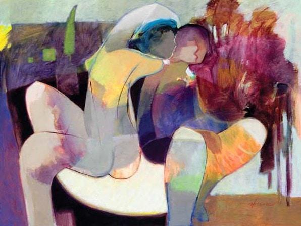 November by Hessam Abrishami 30 x 40 Embellished