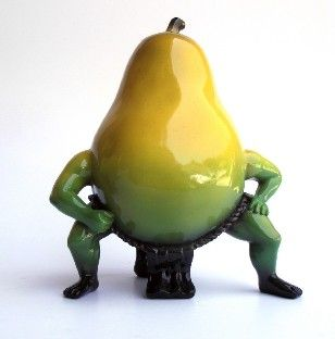 OUT OF THE BOWL - Thad Markham Artist - Fruit Sculptures Grand Master