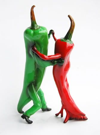 OUT OF THE BOWL - Thad Markham Artist - Fruit Sculptures Hot Salsa