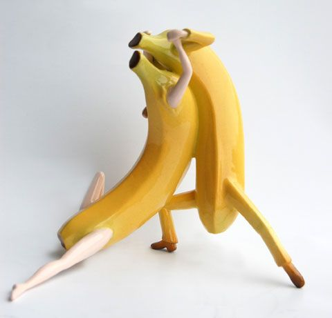 OUT OF THE BOWL - Thad Markham Artist - Fruit Sculptures Last Tango Before Breakfast