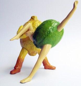 OUT OF THE BOWL - Thad Markham Artist - Fruit Sculptures Lemon Merengue