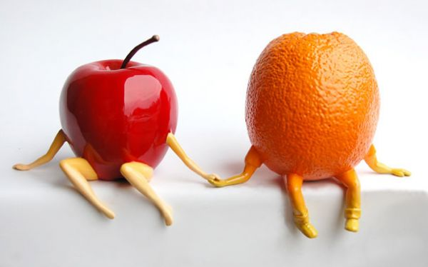 OUT OF THE BOWL - Thad Markham Artist - Fruit Sculptures Orange Crush