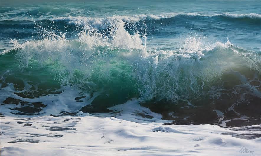 Ocean Dance by Artist Vadim Klevenskiy - Wave Painting