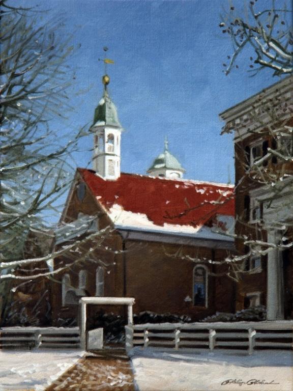 PHILLIP PHILBECK ARTIST - Moravian Church Winston Salem by Phillip Philbeck