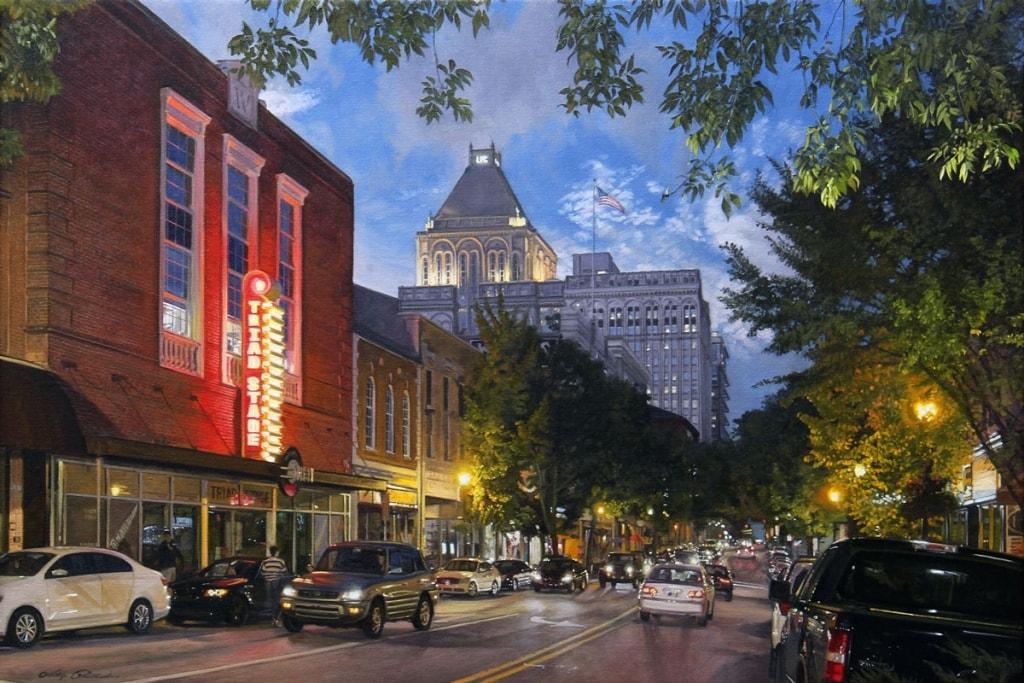 PHILLIP PHILBECK ARTIST - Originals of North Carolina - Elm Street Greensboro