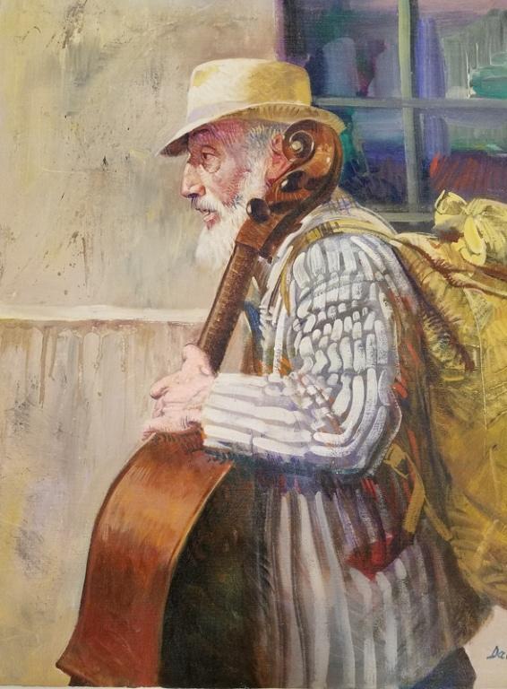 PINO ORIGINAL PAINTING - Pino Original Paintings Old Man