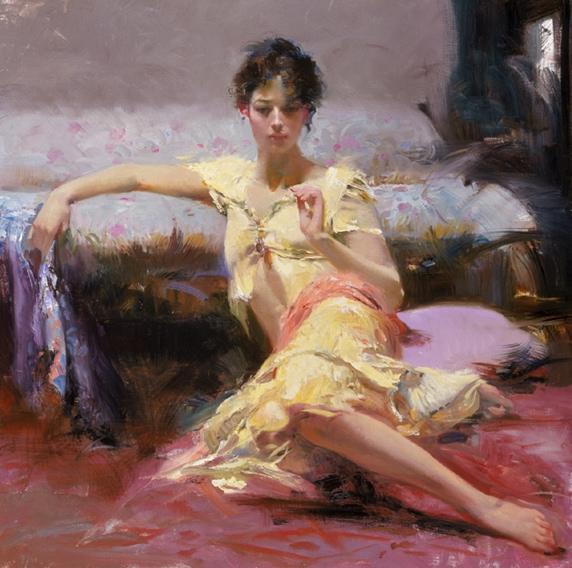 Parisian Girl by Artist Pino Daeni Artwork