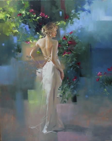 RICHARD JOHNSON ARTIST - Twilight Garden 30x24
