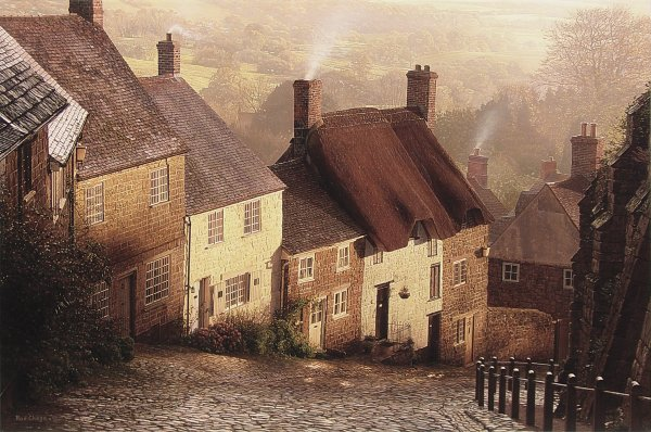 ROD CHASE ARTIST - Blackmore Vale by Artist Rod Chase 30 x 45