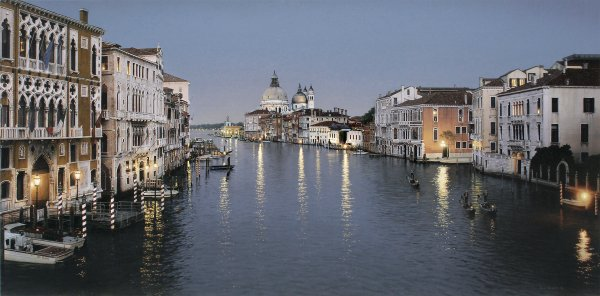 ROD CHASE ARTIST - Evening in Venice by Artist Rod Chase 30 x 60