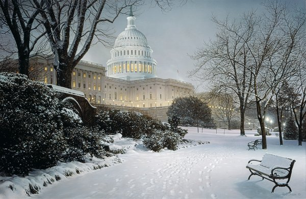 ROD CHASE ARTIST - Evening on the Hill by Artist Rod Chase 26 x 40