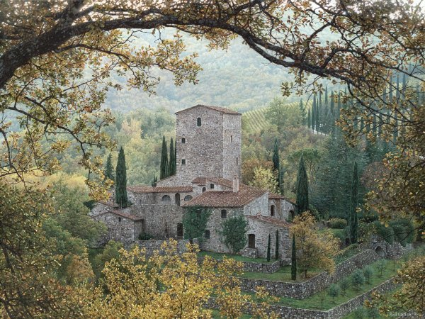 ROD CHASE ARTIST - Hills of Chianti by Artist Rod Chase 36 x 48