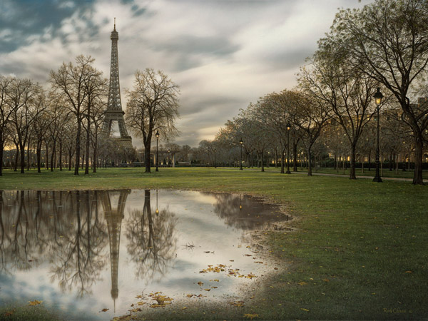 ROD CHASE ARTIST - Paris Memories by Artist Rod Chase 30 x 40