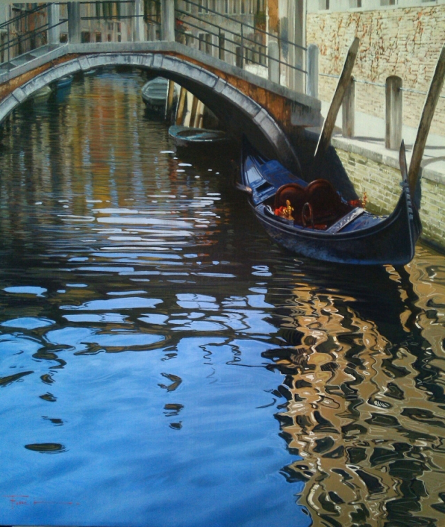 Raffaele Fiore Artist - Venice Reflections Artwork