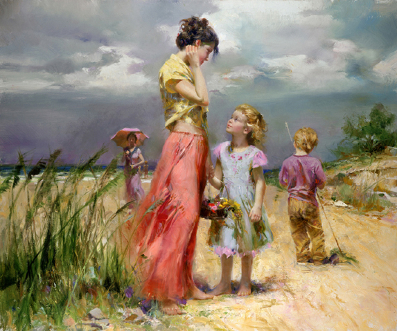 Remember When by Artist Pino Daeni Artwork