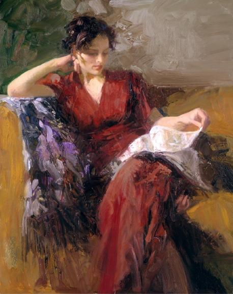 Resting Time byArtist Pino Daeni Artwork
