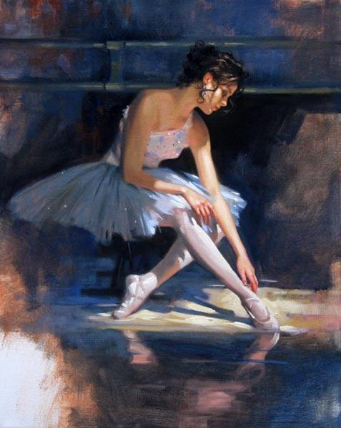 Richard Johnon Artist Blue Reflections 20 x 16