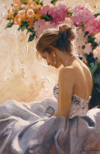 Richard Johnon Artist The Bare Shoulder 36 x 24