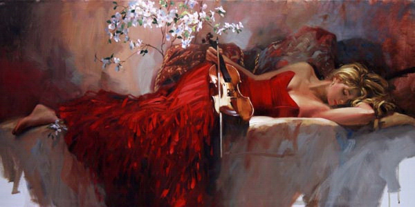 Richard Johnon Artist Twilight Muse 24 x 48