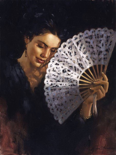 Richard Johnson Artist Battenberg Fan 24 x 18
