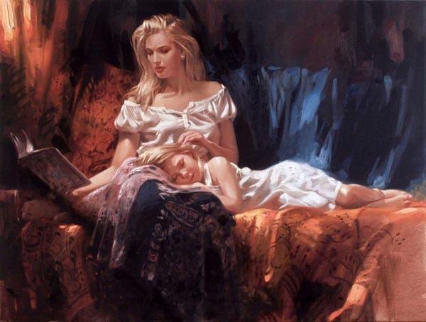 Richard Johnson Artist Bedtime Stories 30 x 40