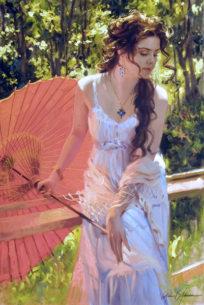 Richard Johnson Artist Embers Glow 36 x 24