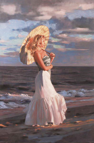 Richard Johnson Artist Embers Shore 36 x 24