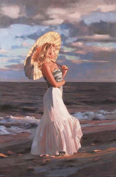 Richard Johnson Artist Embers Shore 36 x 24