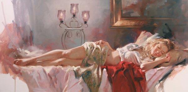 Richard Johnson Artist Golden Repose 24 x 48