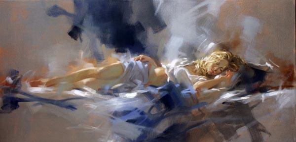 Richard Johnson Artist Midnight Blue 20 x 40
