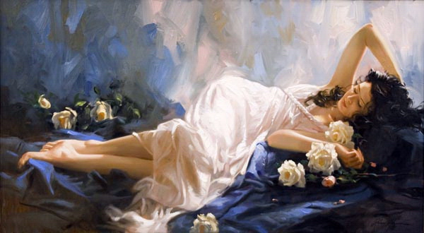 Richard Johnson Artist Moonlight 28 x 50