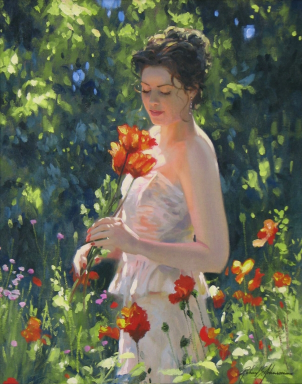 Richard Johnson Artist Original Spring Splendor 20 x 16