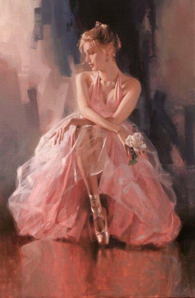 Richard Johnson Artist Rose Slipper 36 x 24