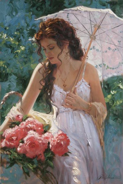 Richard Johnson Artist Sunshine and Lace 14 x 9