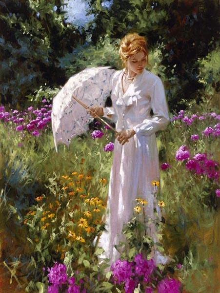 Richard Johnson Artist Wild Gardens Lace 40 x 30